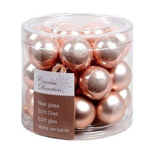 """Стеклянные шары """"Делюкс"""", 25 мм, нежно-розовые, 24 шт."""
