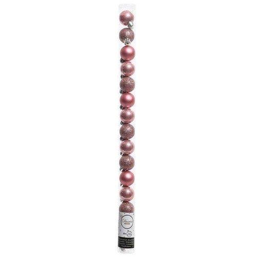Набор пластиковых шаров, 30 мм, розовый, 15 шт.