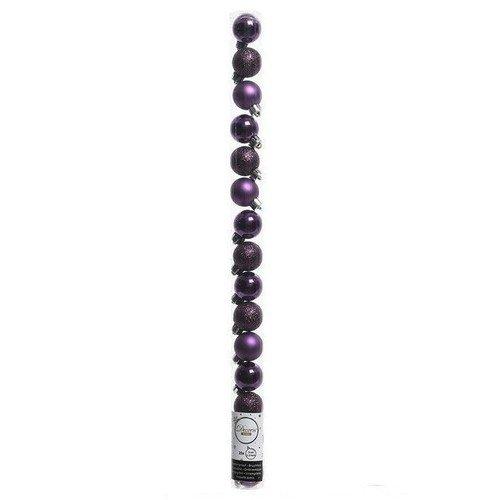 Набор пластиковых шаров, 30 мм, фиолетовый, 15 шт.