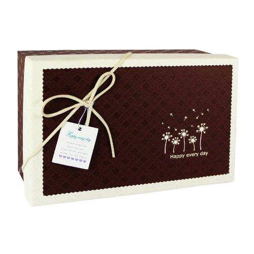 Коробка с бантиком, средняя, шоколадная, 18 х 18 х 8 см коробка подарочная veld co свадебный бабочки цвет слоновая кость 18 х 18 х 26 см