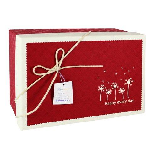 Коробка с бантиком, большая, бордовая, 20 х 20 х 10 см стоимость