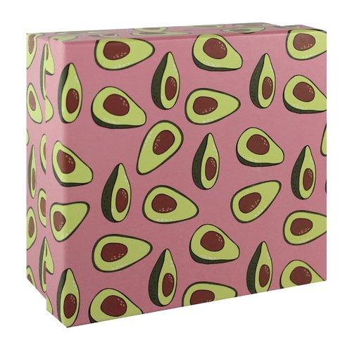 Подарочная коробка Авокадо, 17 х 17 х 8 см коробка подарочная veld co giftbox трансформер голубая полоска цвет черный 17 5 х 17 5 х 17 см
