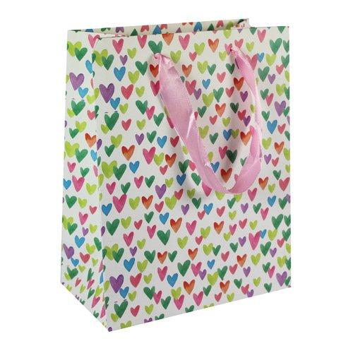 """Подарочный пакет """"Colorful hearts"""" А5, 18 х 23 х 10 см цена в Москве и Питере"""