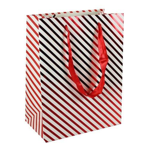 Подарочный пакет Red strips А5, 18 х 23 х 10 см