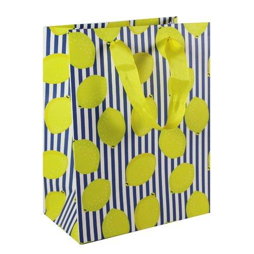 """Подарочный пакет """"Лимоны"""" А5, 18 х 23 х 10 см цена в Москве и Питере"""