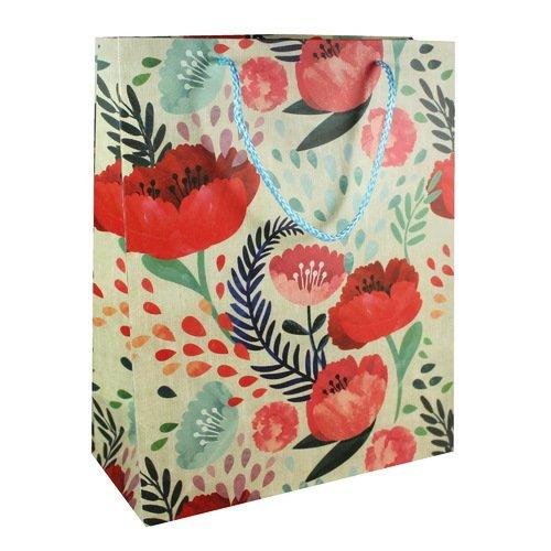 """цены Подарочный пакет """"Flowers"""" А4, 26 х 32 х 12 см"""