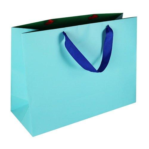Подарочный пакет #009, синий, 40 x 30 x 15 см цена