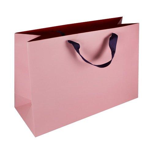 Подарочный пакет #010, розовый, 40 x 30 x 15 см цена