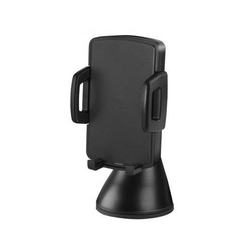 Автомобильный держатель с беспроводной зарядкой WiMount Fast Wireless, черный автодержатель