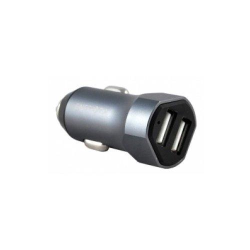 Фото - Автомобильное зарядное устройство Alu drive 2 USB Aluminium 4.8A. Gunmetal сетевое зарядное устройство deppa micro usb для цифровых устройств 1a черный 23120