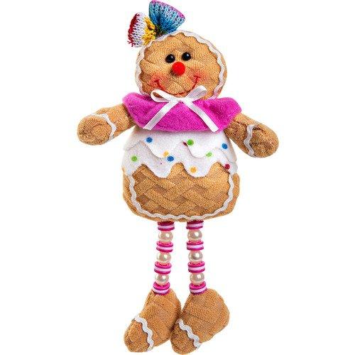 Мягкая игрушка Пряничная девочка SPP-12-W игрушка новогодняя мягкая mister christmas пряничная девочка высота 13 см