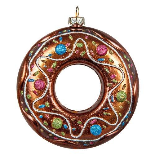 Украшение Пончик CD-15, коричневое украшение медвежонок mister christmas