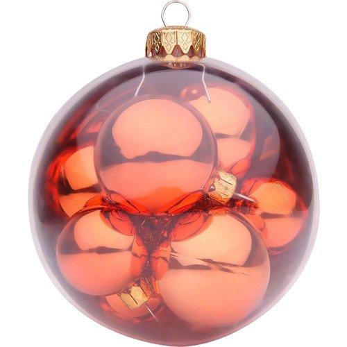 Шар с 9 шарами BC-IB-R-100, 10 см, красный mister christmas набор коллекционных шаров 2016