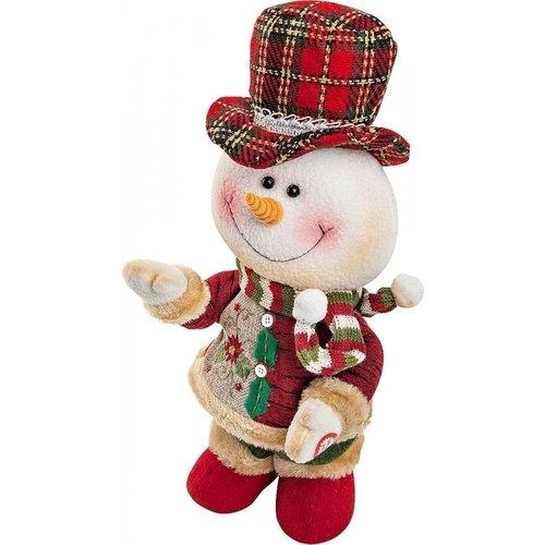 Электромеханическая игрушка Снеговик CHL-244SM, 33 см игрушка новогодняя mister christmas игрушка новогодняя