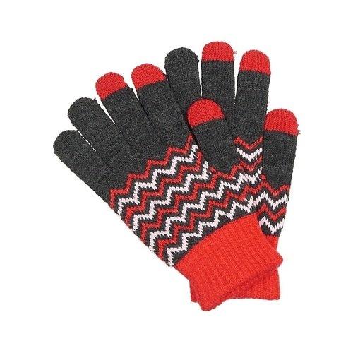 Перчатки для сенсорных экранов 0214, красно-серые цена