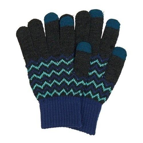 Перчатки для сенсорных экранов 0114, сине-серые цена