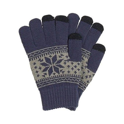 Перчатки для сенсорных экранов 0714, синие теплые перчатки для сенсорных дисплеев liberty project олени s violet r0000503