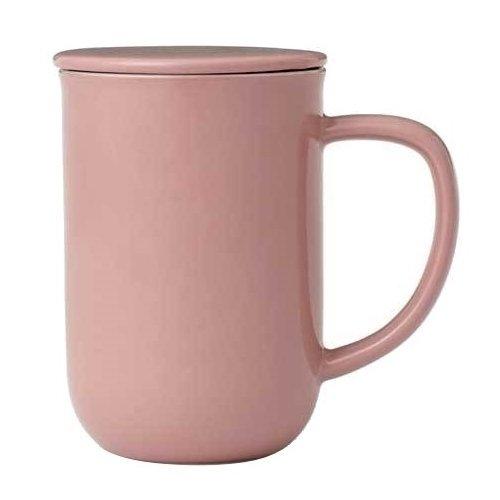 """Чайная кружка с ситечком """"Minima"""", 500 мл, розовая"""