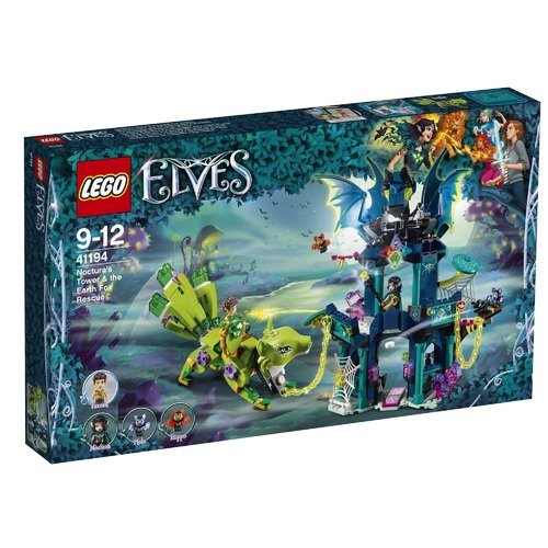 Конструктор Elves Побег из башни Ноктуры 41194 lego elves 41196 нападение летучих мышей на дерево эльфийских звезд конструктор
