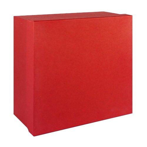 Подарочная коробка, красная, 20 х 20 х 10 см коробка подарочная veld co свадебный бабочки цвет слоновая кость 18 х 18 х 26 см