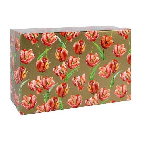 Подарочная коробка Птицы, 21 х 14 х 8 см коробка подарочная veld co giftbox трансформер paris под бутылку цвет бежевый 34 4 х 8 2 х 8 2 см
