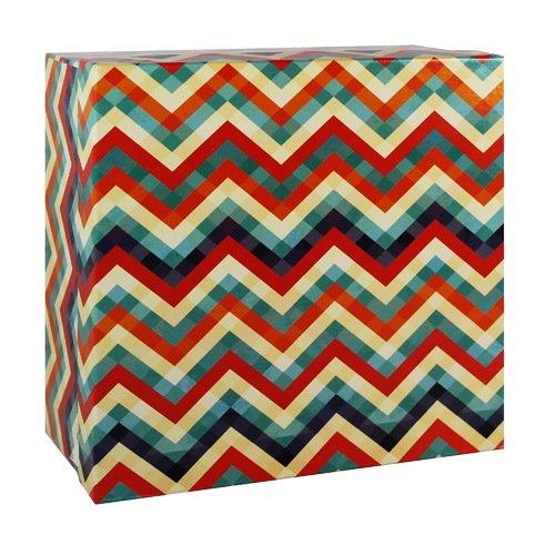 Подарочная коробка Зигзаги, 20 х 20 х 10 см коробка подарочная veld co свадебный бабочки цвет слоновая кость 18 х 18 х 26 см