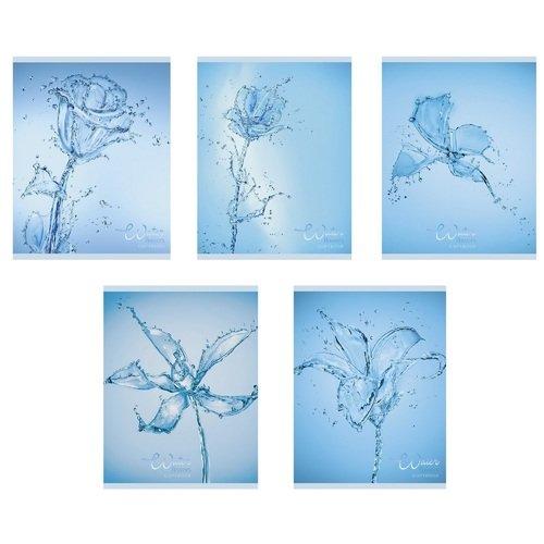 Тетрадь Хрустальные капли А5, 48 листов, в клетку, в ассортименте