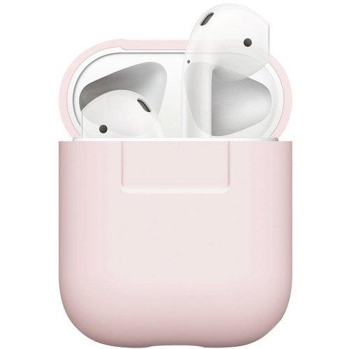 Чехол для AirPods Silicone case, розовый чехол