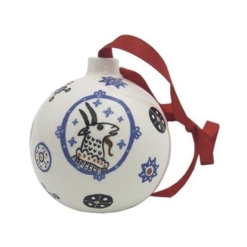 Елочная игрушка Шар с Козой елочная игрушка русские подарки шар 8 см 176465