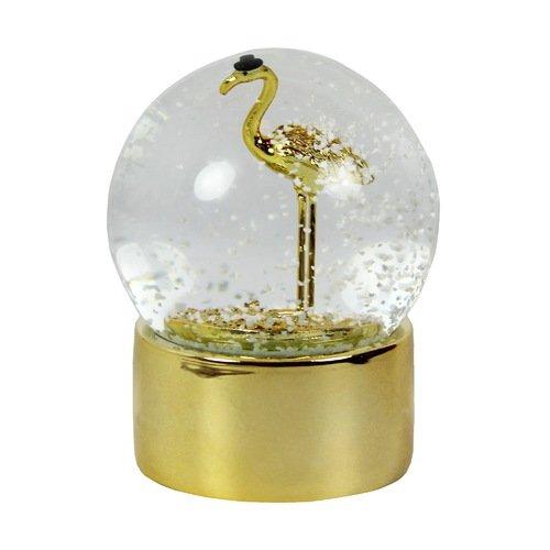 Снежный шар Журавль, золотистый цена