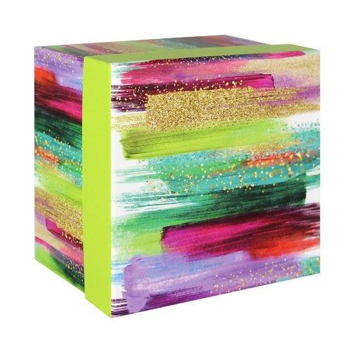 """Подарочная коробка """"Акварельные разводы"""", 12 х 12 х 7,5 см, фиолетовая"""