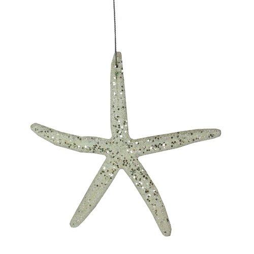 Елочное украшение Морская звезда, белое украшение елочное звезда барокко 8 8 см черный золотой 1 шт в пакете