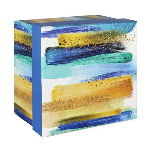 Фото - Коробка подарочная Акварельные разводы, 14 х 14 х 9 см, синяя 14 делений 1050мм х 423мм