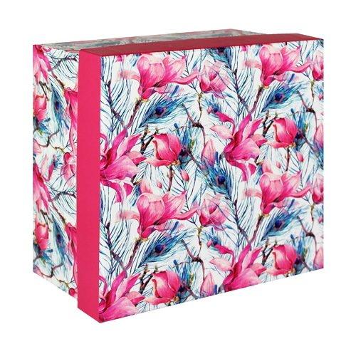 """Коробка подарочная """"Розовые цветы"""", 15 х 8 см"""