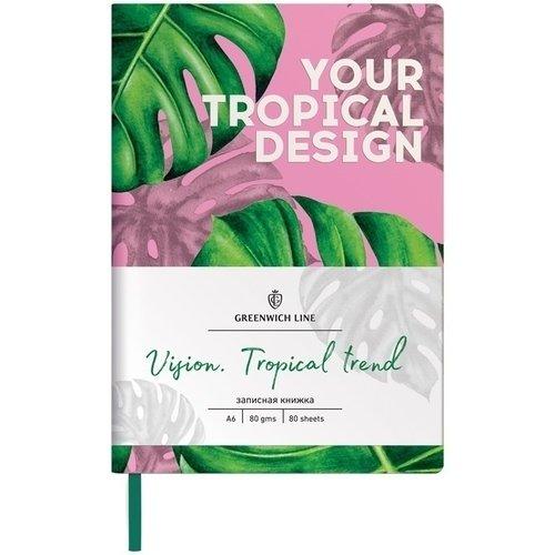 Записная книжка Vision. Tropicaltrend, А6, 80 листов, в клетку