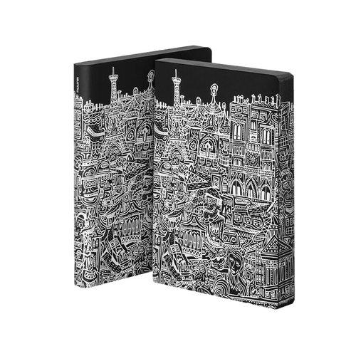 Блокнот Graphic Paris L, 256 стр., 120 г/м2 футболка с шелкографией toro