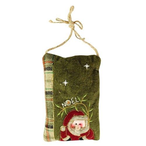 """Новогоднее украшение на подвесе """"Подушечка Санта"""""""
