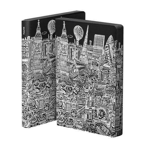 Блокнот Graphic London L, 256 стр., 16,5 х 22 см, 120 г/м2 футболка с шелкографией toro