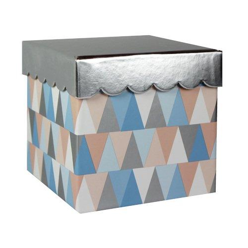 Подарочная коробка Треугольники, 13,6 х 13,6 х 13 см коробка подарочная veld co свадебный бабочки цвет слоновая кость 18 х 18 х 26 см