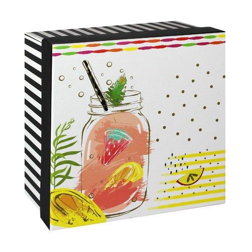 Подарочная коробка Коктейль, 15,5 х 15,5 х 7,5 см коробка подарочная veld co свадебный бабочки цвет слоновая кость 18 х 18 х 26 см