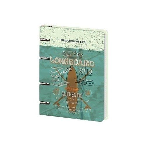 Фото - Тетрадь общая Longboard на кольцах, 120 листов, нелинованная, 16,3 х 21,2 см longboard