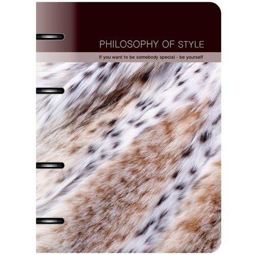 Тетрадь общая Furs на кольцах, 120 листов, в клетку, 16,3 х 21,2 см