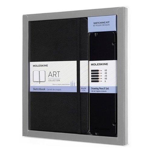 Набор Art Collection. Блокнот для рисования Large, чернографитные карандаши карандаши чернографитные index i301 6b i301 6b