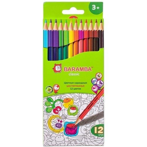 Карандаши цветные, шестигранные, 12 цветов карандаши bruno visconti набор карандашей цветных disney белоснежка 6 цветов