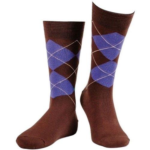 Носки мужские Oxford, 39-42, коричневые носки мужские marrey art of color цвет желтый sm0002 размер 39 42