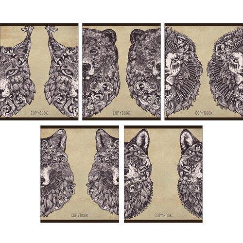 """Тетрадь """"Хищная красота"""" А5, 96 листов, в клетку, ассортименте"""
