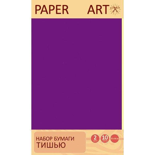 """Набор бумаги тишью """"Фиолетовый и нежно-желтый"""" 2 цвета, 10 листов набор для тв ва топиарий малый крокусы фиолетовый желтый"""