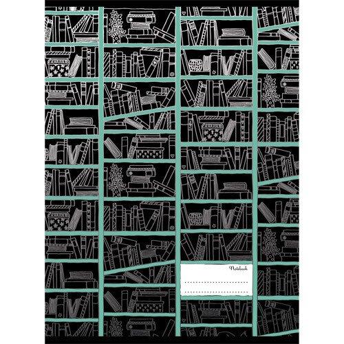 """Тетрадь для конспектов """"Книжные полки"""" А4, 96 листов, в клетку"""