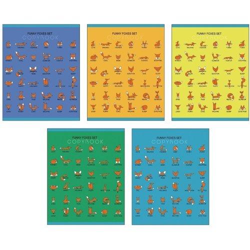 Тетрадь Забавные лисята А5, 96 листов, в клетку, в ассортименте тетрадь attache a4 96 листов 68568