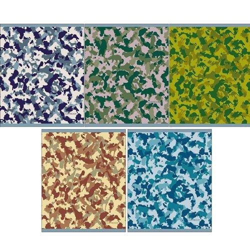 """Тетрадь """"Камуфляж"""" А5, 96 листов, в клетку, в ассортименте тетрадь magic lines багарт экзотик 96 листов в клетку 26863 5 шт"""
